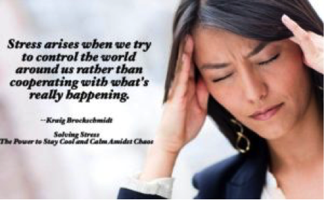 Picture quote from Solving Stress